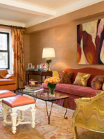 Image for Jennifer Flanders Mixes Bold Pinks With Red and Gold Oushak Rugs