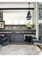 Image for Courteney Cox's Sanctum is Softened by a Silver Gray Blue Oushak Rug