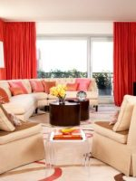 Image for Amanda Nisbet's Upbeat Play on Red and Cream Contemporary Wool Rugs