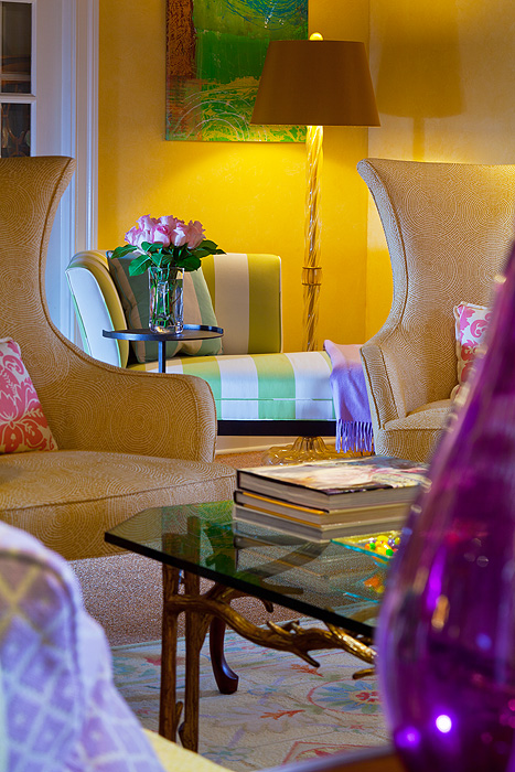 How to Design with Decorative Rugs in Yellow, Purple, Coral ...