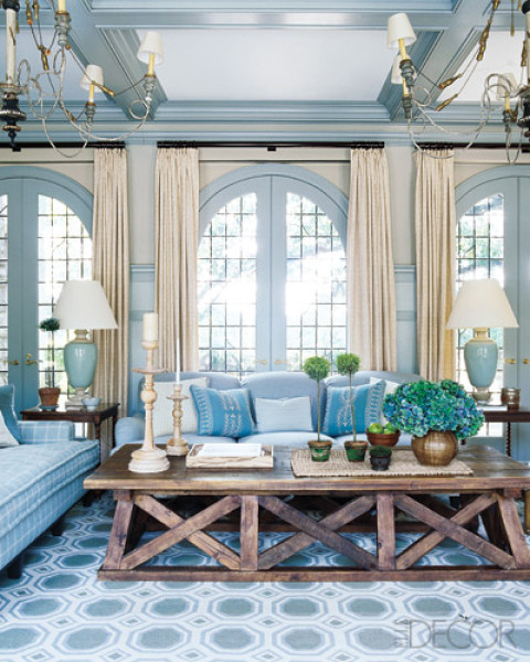 10 Stylish Interiors With Blue Rugs And Geometric Rugs
