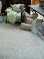 Image for How to Decorate Flexibly: Oushak Rugs in Pale Aqua and Faded Green