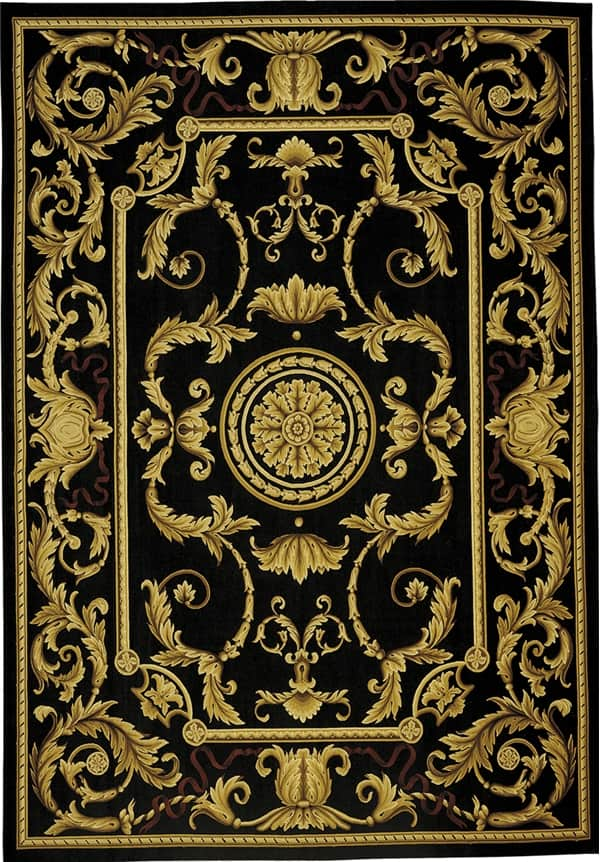 Predicting fashions for Aubusson rugs, Aubusson rug, Aubusson area rugs, French Aubusson rugs, aubusson rugs for sale, black and gold rugs