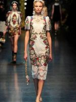 Image for Dolce & Gabbana F/W 2012 Fashions Honor Floral Needlepoint Rugs