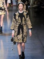 Image for Gold on Black Aubusson Rugs Inspire Fall-Winter 2012 Womens Fashions