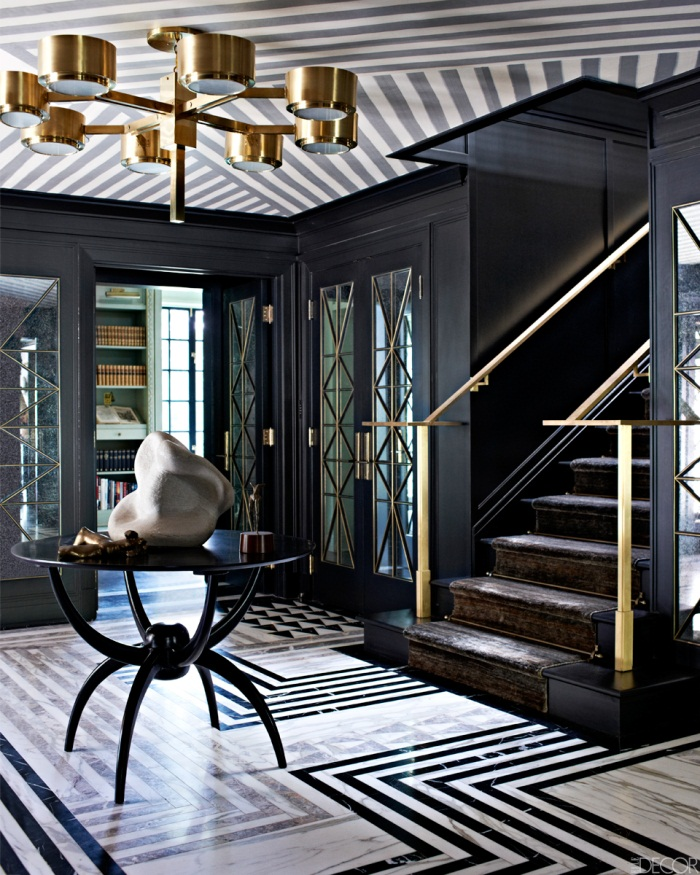 A Modern Art Deco Home Visualized In Two Styles: 7 Grey And Black Art Deco Rugs Star In New Kelly Wearstler