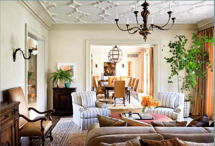 12 Celeb Interiors Michael Smith Adds Glamor With Red And Blue Rugs