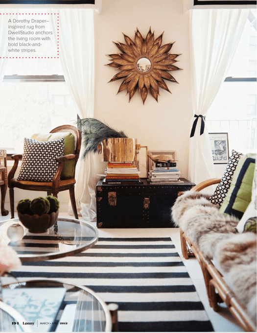 10 Gorgeous Rooms How To Decorate With Black White Geometric Rugs