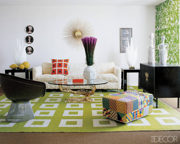 Mid Century Modern Geometric Rugs: 10 Chic Rooms, Decorating ...