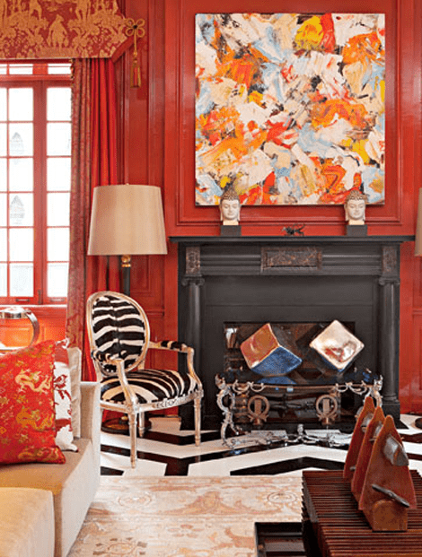 Inson Wood, Traditional Home Magazine, Holliday House 2011 Designer Showhouse, Silk persian design rug