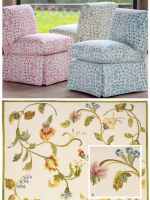 Image for How to Pair Brunschwig & Fils Fabrics with Blue, Pink and Green Rug