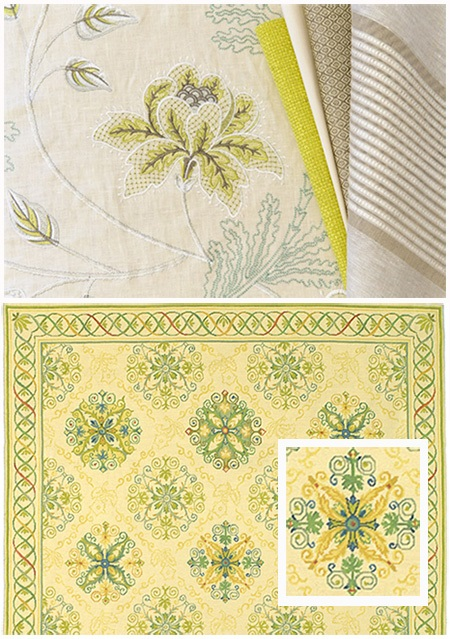How To Decorate Cowtan Amp Tout Fabric And Yellow Blue And