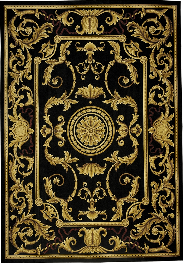 Aubusson rugs, black and gold Aubusson rugs, Aubusson carpet, Aubusson rugs for sale, French Abusson rugs