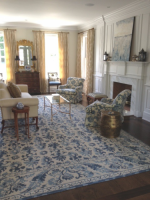 Image for How to Design Stylish Rooms in Blue with Needlepoint Rugs: 12 Tips