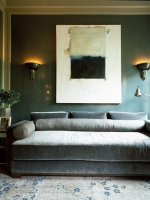 Image for How to Design Chic Interiors with Oushak Rugs and Blue with Grey