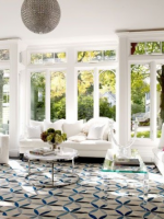 Image for Blue Geometric Rugs Bring Modern Vibe to 2 Traditional Homes