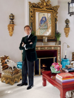 Image for Valentino Displays Love for Chinoiserie and Needlepoint Rugs