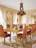Image for 4 Glamorous Dining Rooms with Metallic Accents and Decorative Rugs