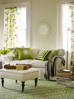 Image for Antidotes for Winter Blues: 4 Spring Happy Interiors with Green Rugs