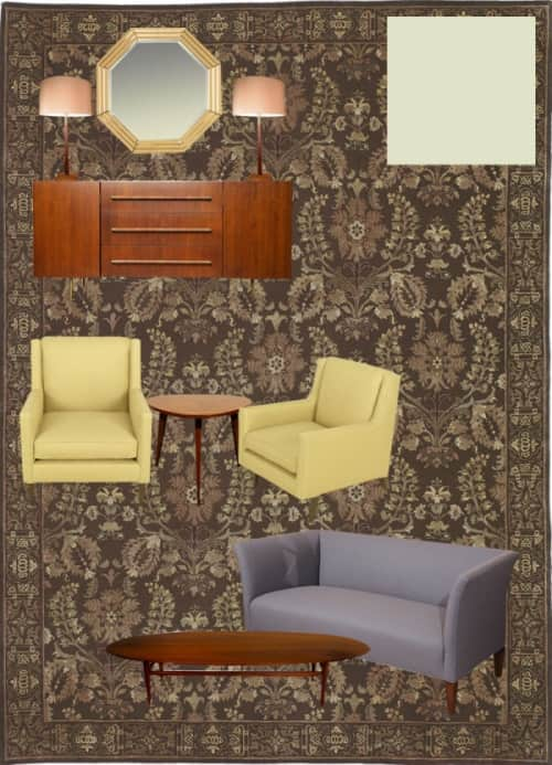 Damask rugs, brown rugs, brown and green rugs, brown and purple rugs