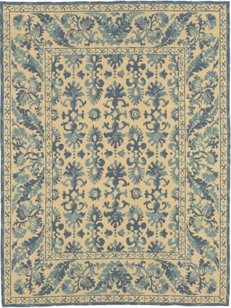 blue rugs, blue rugs for sale,  blue floral rugs, blue needlepoint rugs