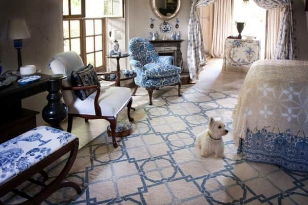 blue rugs, blue rugs for sale, blue geometric rugs, blue needlepoint rugs