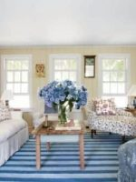 Image for 14 Chic Hamptons, Nantucket Blue and White Interiors with Blue Rugs