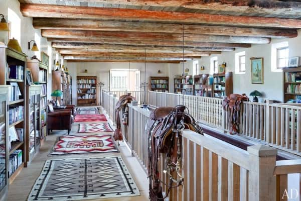 Navajo-rugs-jane-fonda-new-mexico-ranch-upstairs-galleria-Architectural-Digest