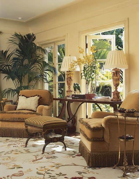 floral-rug-Asmara-Branches-Aubusson-rug-Palm-Beach-garden-room-kemble-interiors