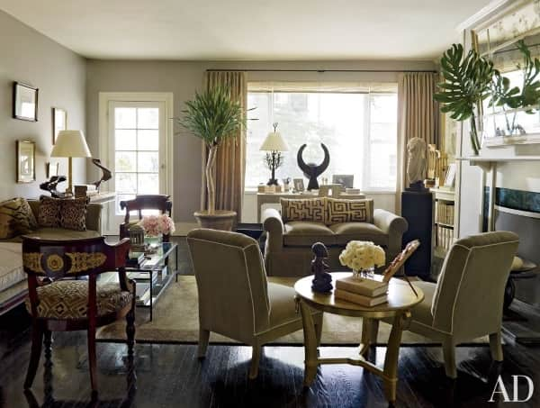 Pinterest s 7 top family rooms are enhanced by chic - Gold rugs for living room ...