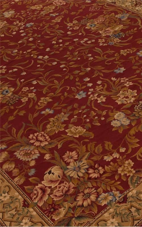 red-rug-aubusson-rug-floral-aubusson-rug-Adria-Aubusson-Rug-5813R