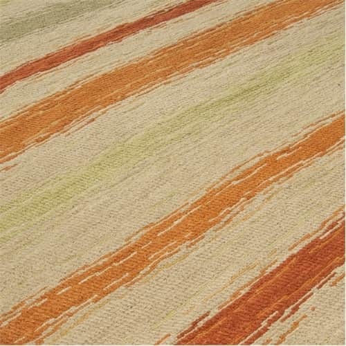 striped-rug-coral-orange-cream-green-striped-rug-tenerife-Needlepoint-Rug-1737HR