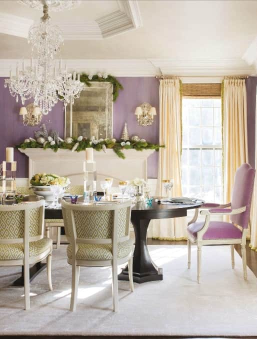 contemporary-rug-grey-rug-purple-dining-room-holiday-decor-gerald-pomeroy-traditional-home-November-2014