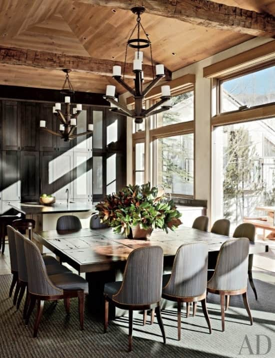 contemporary-rug-grey-rug-rustic-dining-room-stephen-sills-aspen-colorado