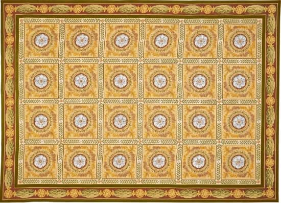 french-empire-rug-federal-rug-neoclassical-rug-gold-rug-2138GD-Menton-needlepoint-rug