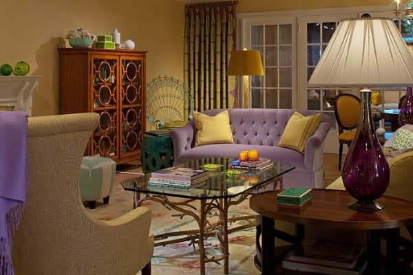 neoclassical-rug-yellow-red-blue-green-and-purple-rug-living-room-susan-nelson-Pamplona-GD-Oriental-Rug-6112GD