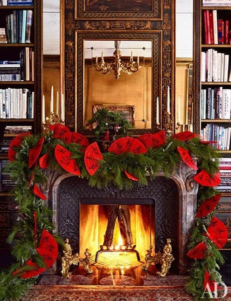 oriental-rug-library-fireplace-mantel-holiday-decorations-by-bronson-van-wyck-architectural-digest-december-2014