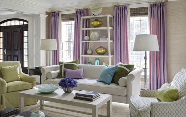 14 living rooms enlivened for spring with colorful for Traditional interior design blogs