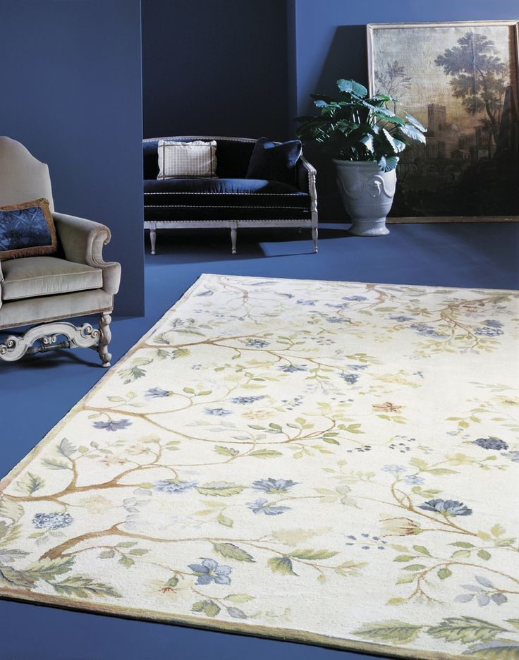 blue-and-white-floral-rug-blue-living-room-Blue-Summer-Oriental-Rug-6848YB