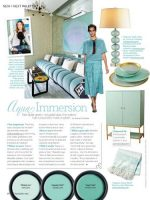 Image for Kelly Wearstler: 4 Tips for Decorating with Aqua Rugs and Fabrics