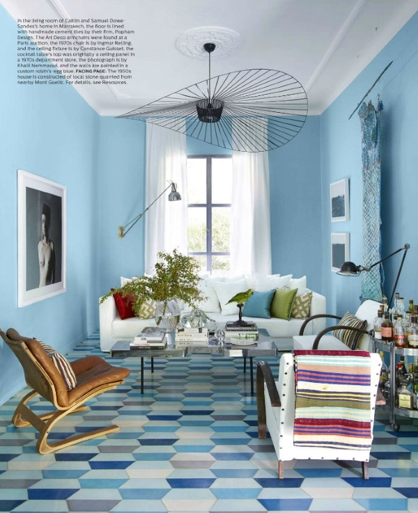 elle decor september 2015 6 best rooms with decorative rugs