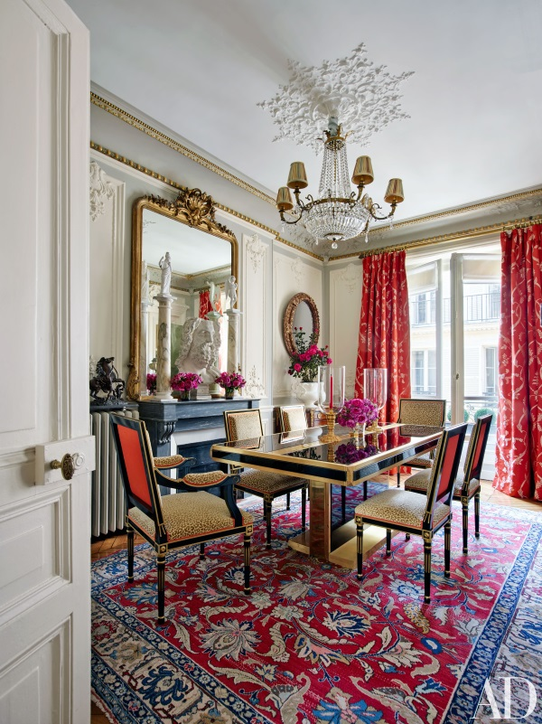 Persian Heriz Dining Room Rugs Designer In Architectural Digests 5 Best Rooms April 2016