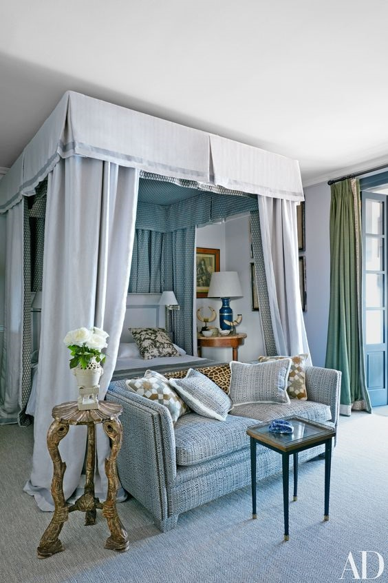 10 Best Blue Bedrooms And Blue Rugs In Architectural Digest