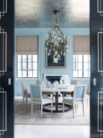 Image for Blue, Gray, Coral and Green Rugs Enrich Veranda's 7 Best Dining Rooms