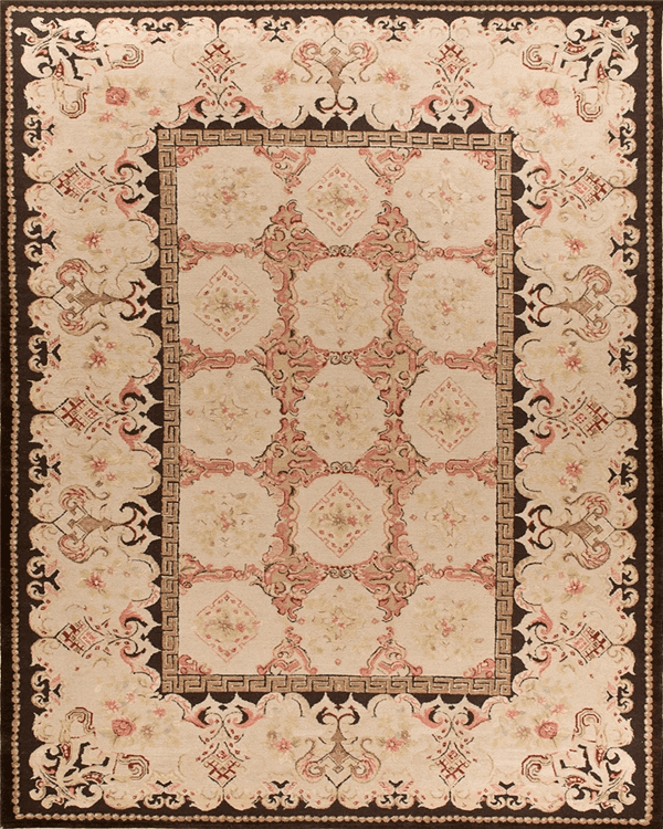 The Asmara Hermitage Bessarabian pile rug was inspired by an antique Bessarabian rug Asmara Founder Abid Ilahi saw in a Sotheby's or Christies auction.