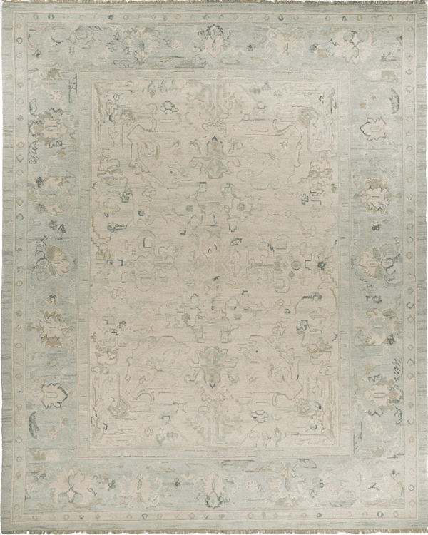 Asmara hand knotted their Lycia CB Oushak Rug with subtle shade and texture variations rivaling the best antique oushak rugs.