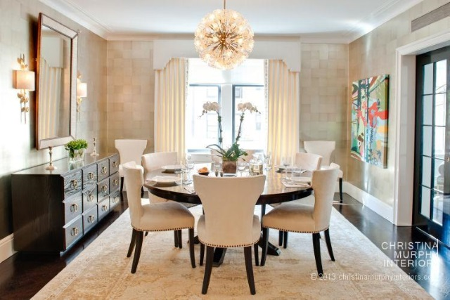 Oushak rug in dining room by Christina Murphy featured in Asmara Interview with the designer