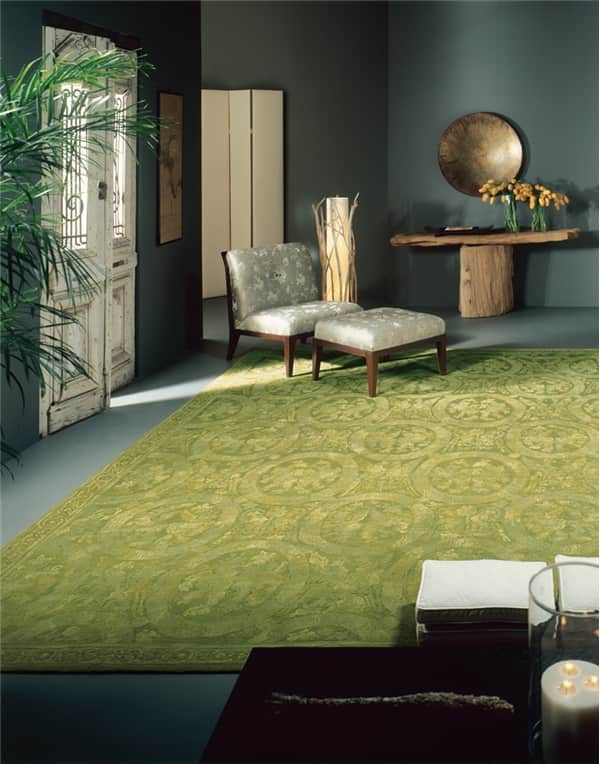 "11 Ways to Decorate with Green Rugs and Pantone 2017 Color ""Greenery"""