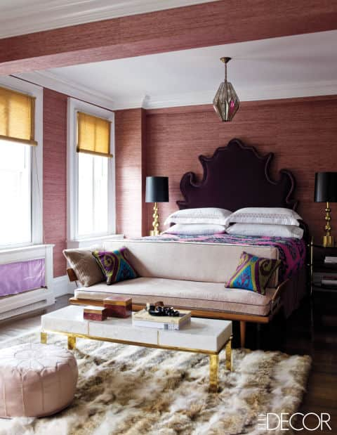 Elle Decor Bedrooms 31 small bedroom design ideas decorating tips for small bedrooms Contemporary Rug Fur Rug Master Bedroom Jackie Astier