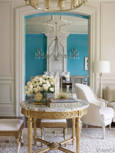 White Damask Rug Dining Room In Greenwich Connecticut By